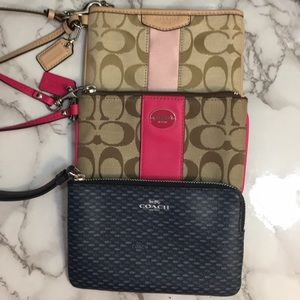 Lot of 3 Coach Wristlets Authentic Preowned